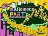 ハロウィンパーティーの招待状
