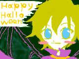 [2008-10-25 15:16:57] ピットくんでhappy、halloween(マウスがき)