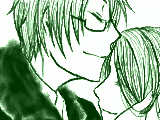 額にキス【友情】