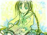 文学少女...小説表紙のカラーイラストが綺麗で気になってます~^q^