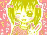 [2009-06-07 15:47:21] えまリクの「うさぎの人形を持った、童顔の女の子」です☆なんか、ピンクだらけですみません(><)しかも!!!!うさぎ・・・変だし・・・・。リク募集中です♪