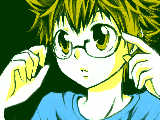 [2009-06-16 21:02:36] ツナにメガネをかけてもらったw  …手が微妙すぎるorz