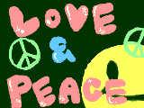 [2009-07-09 21:11:53] raraです!! LOVE&PEACEを書きました(汗