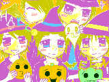 [2009-10-19 22:28:29] はっぴーはろうぃん! 紫・オレンジチョーク楽しかったです^^
