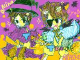 [2009-10-29 16:41:36] 魔法使いのニノと黒猫の翔ちゃん ニノうまく描けないんだよねぇ・・・