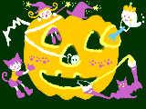 [2009-10-31 16:33:25] カボチャのお祭り!みんなで仲良く飾りつけ♪