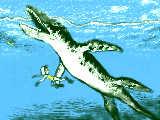 「 きゃあ! リオプレウロドンが! 」 【ジュラ紀】海生ハ虫類 15メートル以上