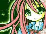 [2010-02-17 17:41:15] ピンクの髪の毛の女の子【「の」多い。】