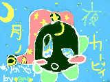 [2010-10-23 18:11:01] 友達が家のペンタブのペン壊れたのにマウスでわざわざ描いてくれたオリカビの「月ノカービィ」です!差来ちゃん(仮名)ありがとう!