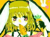 [2011-02-25 17:10:42] 初オレンジ!!白ウサギ^^