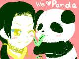 パンダと一緒ある♪
