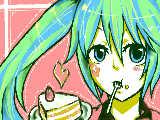 [2011-04-09 02:11:38] wmちゃんハピバ!!ということでミクを描いてみたつもり。。。