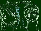 目から描くと、友達Eさんのようになってしまいます・・・トホホ・・・・友達は、ぬら孫が大好き人間ですなハハハハ・・・