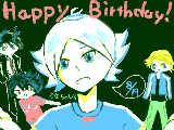 [2011-08-19 21:32:10] かなちゃんお誕生日おめでとう!!  (雑でキャラが誰テメ絵でごめんなさい><)