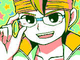 目金の眼鏡をかけた円堂監督