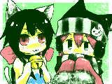 【お礼絵】猫又さんとみーこちゃん