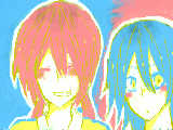 蘭ちゃんとマサキ
