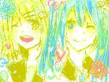 [2012-07-16 12:48:43] リンとミクでぎゅっぎゅづめ!!