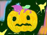 仮装したかぼちゃとねこ