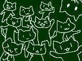 [2013-10-20 16:57:31] とりあえず猫(もどき)を、5分間で描けるだけ描いてみました←