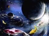 宇宙を泳ぐ