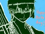 <ナカノヒトゲノム>カイコク君お誕生日おめでとう!(模写)