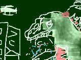 [2016-10-23 21:50:46] なんとなくゴジラ描いてみました