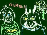 undertale asriel flowey(下手ですいません(+ +))