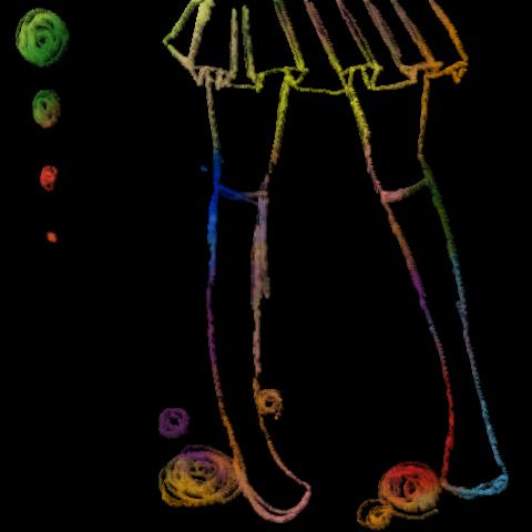 スカートから下は描くの好き