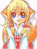 狐の巫女さん。