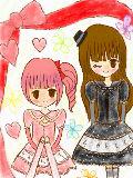 「ゴスちゃん&ロリちゃん」スケブで描いてみたよ^^