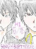 [2010-05-05 00:00:18] 土方さん&雲雀さん誕生日 5/5(超自分絵;;)