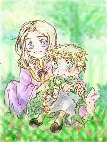 [2010-07-09 13:26:42] 【sakuさんへ♪ ちっちゃい頃のフラアサ】はじめての花冠作り