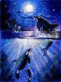ラッセン模写 (mystic orcas)