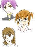 またお祭り参加します^^ 上から南沢さんの兄、速水の姉、神童の妹だとおもいます←