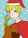 トナカイとフィン「メリークリスマス♪」