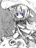 [2012-06-27 15:57:17] てるてる坊主子と相方のおケロさん(ウシガエル)