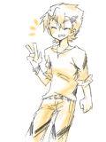[2012-10-07 17:52:31] ウィルの服が暑苦しかったのでちょっとクールビズしてもらった