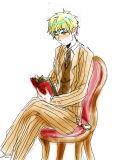 紅茶色のスーツの似合う彼