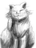 [2013-10-20 10:50:06] 勢いでうちの猫描いてみた!似てない!