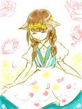 花を愛す少女