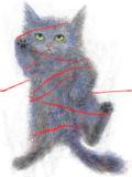 赤い糸繋ぎ絵