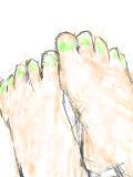 足を描く2